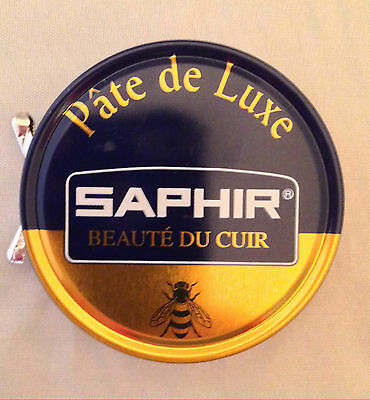 Saphir Shoe Polish Pate de Luxe 50ml Tin - Made in France - 9 Colors In Stock