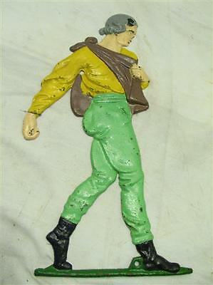Early 1957 JZH Cast Iron Johnny Appleseed Wall Mount Hanging Figure John Harner