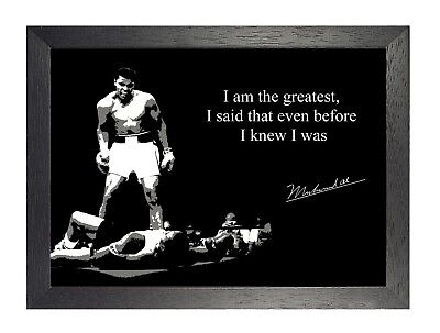 Inspirational  Mohammed Ali 2 Quote Inspirational Motivation Poster Fight Boxing