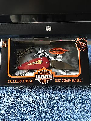 Harley Davidson Collectible Flame Black Knife/key Chain New