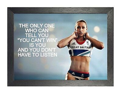 Jessica Ennis London Gold Quote Beleive Motivation Determination Poster Fit