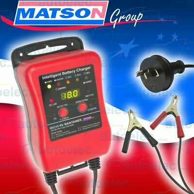 Matson 12V Volt Battery Charger Maintain 2 To 10 Amp 10A  Agm Gel Sla Deep Cycle