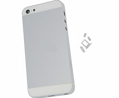 Genuine Iphone 5 5G Metal Rear Back Battery Cover Housing Fascia White + Sliver