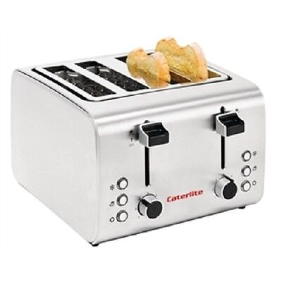 Caterlite Semi-Commercial 4 Slice Stainless Steel Toaster - CP929