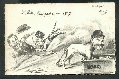 Artist Molynk french political comic postcard (72799