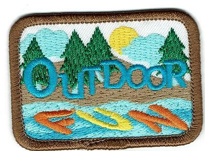 Girl Boy Cub OUTDOOR FUN Patches Crests Badges SCOUT GUIDE lake adventure outing