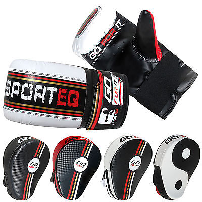 Sporteq Branded Fitness Boxing Mitt Glove Focus Pad Training Set Punch Fight