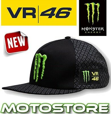 Vr46 Valentino Rossi Cap Official Hat Genuine Trucker Monster Energy Claw Black