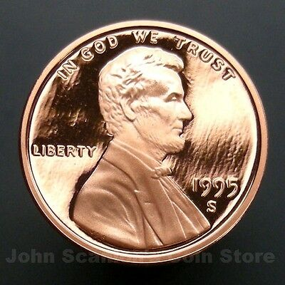 1995-S Lincoln Memorial Cent Penny - Gem Proof Deep Cameo U.S. Coin