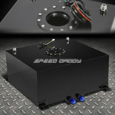 15 Gallon Black Coated Aluminum Racing/drifting Fuel Cell Gas Tank+Level Sender