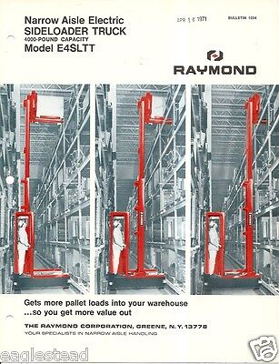 Fork Lift Truck Brochure - Raymond - E4SLTT - Side Loader - 1969 (LT233)