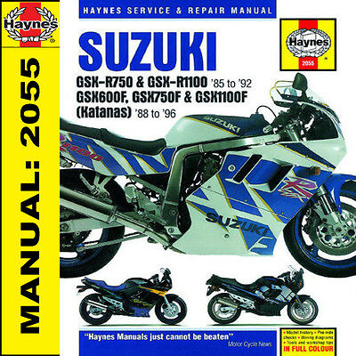 Suzuki GSXR750 GSXR1100 GSX600-1100 1985-1996 Haynes Manual 2055 NEW