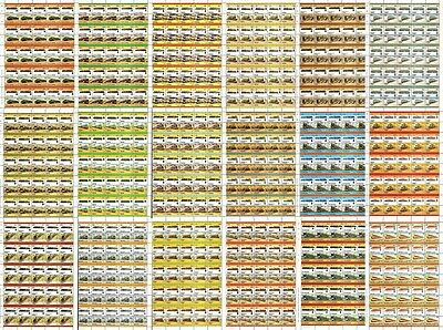 19 x FRANCE FRENCH Railway Stamp Sheets (950 Stamps) Train/Locomotive WHOLESALE