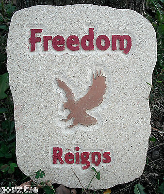 Eagle Mold garden plaque casting plaster concrete mould