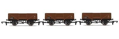 R6712A Hornby OO - BR Open Wagons - Three Wagon Pack