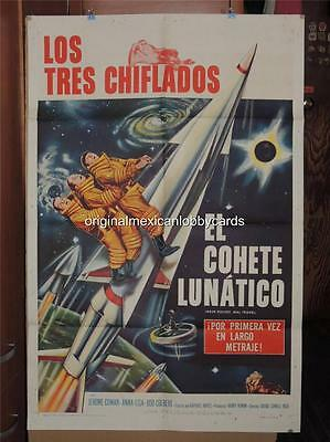 The Three Stooges Have Rocket Will Travel Original U.s. Poster 1Sh. Spanish 1959