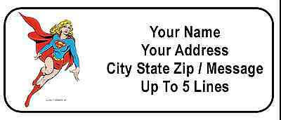 30 Supergirl Personalized Address Labels