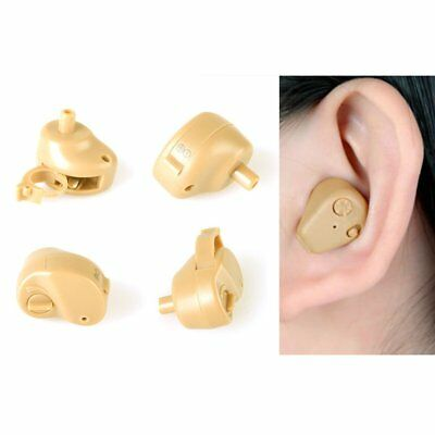Mini Digital ITE Hearing Aid Aids in the Ear Sound Voice Amplifier +Batteries