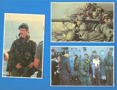 3  Falklands War Postcards.bluff Cove,argentine Soldiers & Task Force Soldier