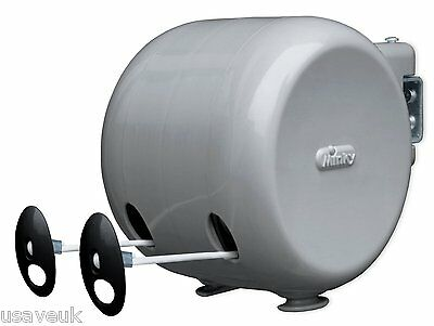 30m Minky Retractable Outdoor Clothes Washing Wash Line - 2 x 15m Lines