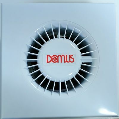"""Domus SDF100TB Bathroom/WC Extractor Fan with Run On Timer - White 100mm 4"""""""
