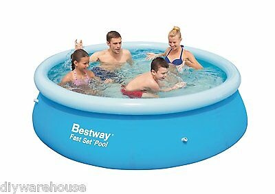 Bestway 8Ft Pool Bw57008 Fast Set Quick Up Pool Round Large Inflateable Paddling