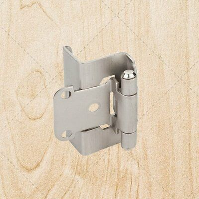 "Full Wrap Self Closing Cabinet Hinge Satin Nickel 1/2"" Overlay 3/4"" Frame hs541"