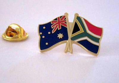 Australia & South Africa Flag Friendship Flag Pin Badge