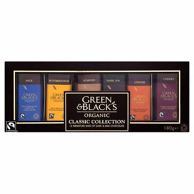 Green & Black's Organic Dark & Milk Miniature Bars Collection 12 per pack - 180g