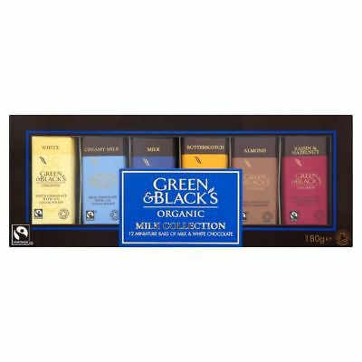 Green & Black's Organic Milk & White Miniature Bars Collection (12 pack - 180g)