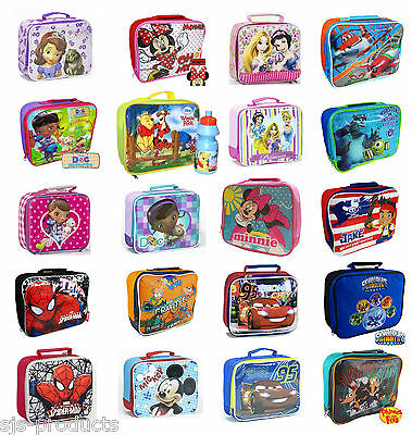Disney Lunchbox Lunch Pack Bag Kids Boys Girls School Food Picnic Box Insulated