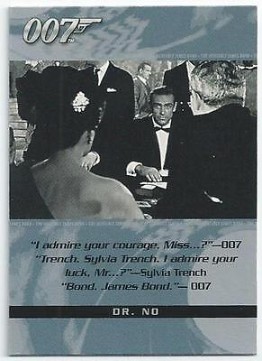 James Bond 007 - The Quotable Card 93 - Dr. No & Licence To Kill (Aixk)