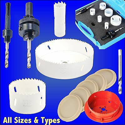 HOLESAWS - SIZES 16 to 152mm wood drill arbor bi-metal bimetal bi metal hole saw