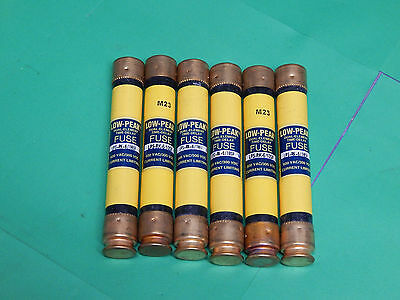 Lot of 6 Bussmann Low-Peak LPS-RK-6/10SP Fuses 6/10Amp 600VAC LPSRK6/10SP
