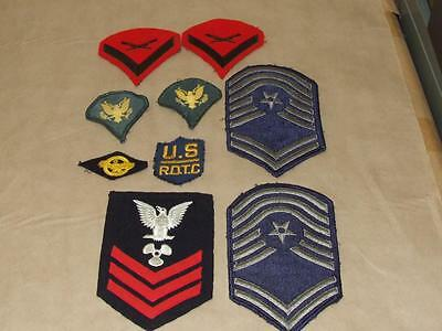 Lot of 9 Vintage Military Embroidered Patches