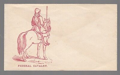 [54357] Civil War Postal Cover Federal Cavalry (C-A-H-50)