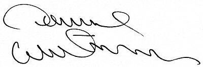 A 13cm x 7.5cm Plain White Card Signed by Dave Watson of Norwich City