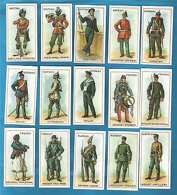 Copes cigarette cards - UNIFORMS OF THE WORLD  - Full set