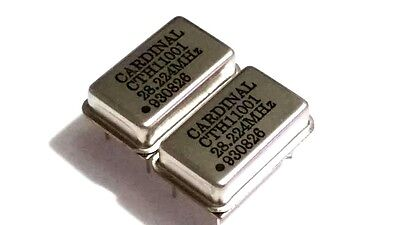 NEW LOT OF 2 CARDINAL CTH 11001 CRYSTAL 930826 28.224 MHz CTH11001 28.224MHz