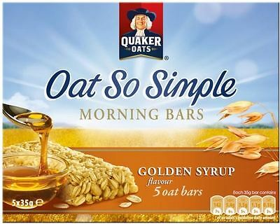 Quaker Oat So Simple Morning Bars Golden Syrup (5x35g)