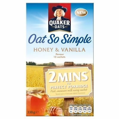 Quaker Oat So Simple Honey & Vanilla (10 per pack - 338g)