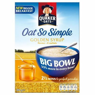 Quaker Oat So Simple Big Bowl Golden Syrup (8 per pack - 397g)