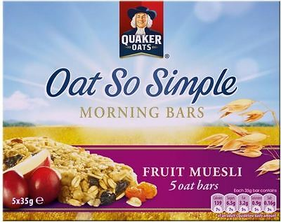 Quaker Oat So Simple Morning Bars Fruit Muesli (5x35g)
