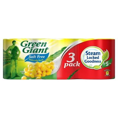 Green Giant Naturally Sweet Sweetcorn No Added Salt (3x340g)