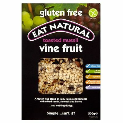 Eat Natural Gluten Free Toasted Muesli Vine Fruit (500g)