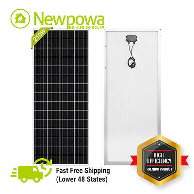 NewPowa 150 Watts 150W Solar Panel 12V Poly Off Grid Battery Charger for RV Boat