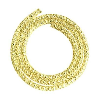 1 x Golden Plated Copper 4mm x 1m Knitted Mesh Craft Wire Round Tube W9505