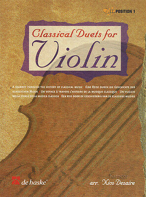 Classical Duets for Violin Sheet Music Book