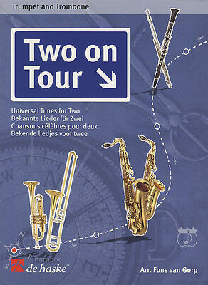Two On Tour Easy Trumpet & Trombone Sheet Music Book