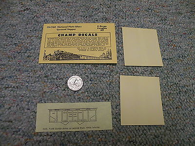 Champ O Decals Union Pacific Covered Hopper Red CN-262 Old Version